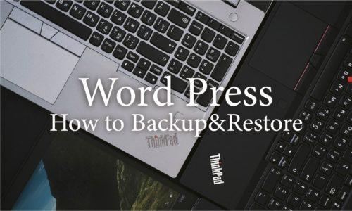 Webサイト制作者必見!WordPressサイトのバックアップ&復元方法